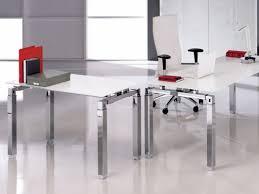 bureau verre design contemporain table de réunion carrée en verre design