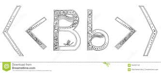 m vanda freehand pencil sketch font stock illustration image