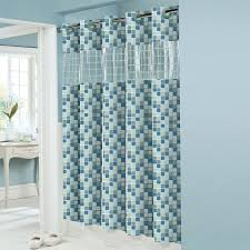 Fabric Shower Curtain With Window Hookless Rbh14hh09 Peva Mosaic Shower Curtain At Atg Stores Farm