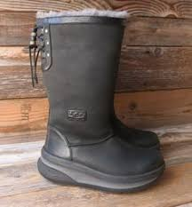ugg s klarissa boots ugg australia womens dree black leather boots us 7 uk