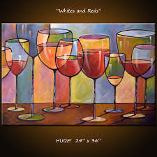 Amy Giacomelli Painting Abstract Modern Dining Room Decor Wine - Dining room paintings