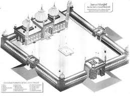 floor plan of mosque the jama masjid u2013 an architectural masterpiece u2013 subratachak