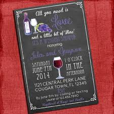 coed bridal shower printable wine theme couples coed wedding shower invitation i