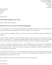 relationship manager cover letter 28 images sle relations