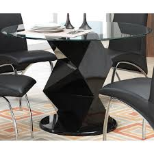 Glass Top Pedestal Dining Room Tables Coaster Furniture 120800 Ophelia Contemporary Glass Top Dining