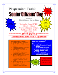 Resumes For Senior Citizens Plaquemines Parish Senior Citizens U0027 Day Charles J Ballay