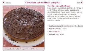 comp騁ence en cuisine mariette s back to basics chocolate cake without eggs healthy