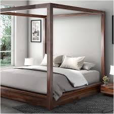 Wood Canopy Bed Rustic Solid Wood Canopy Bed