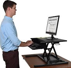 2 Tier Desk by Stand Up Desk Store Airrise Pro Height Adjustable Standing Desk