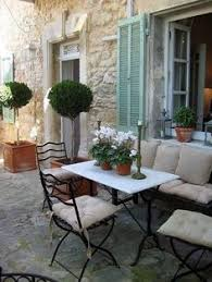 French Country Outdoor Furniture by Roses And Rust Polvere Frenchs And Tolix