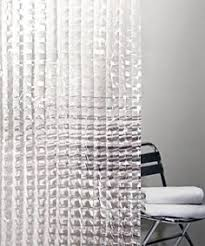 Clear Vinyl Shower Curtains Designs Cubic Clear Shower Curtain I Like The Clean Modern Look Of This