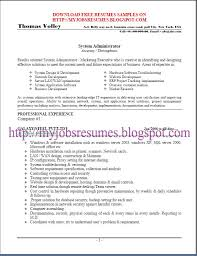 Example Resume Doc Linux System Administration Sample Resume Haadyaooverbayresort Com