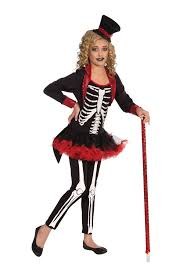 Skeleton Halloween Costume For Kids Kids Girls Miss Bone Jangles Skeleton Print Deluxe Costume