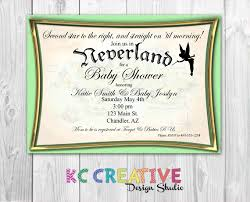 pan baby shower join us in neverland custom pan and tinkerbell themed