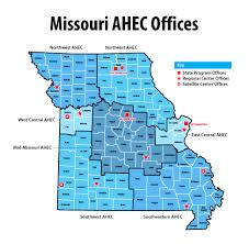 Map Of St Louis Mo Mahec Statewide Map Northeast Missouri Area Health Education