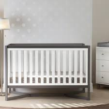 Tribeca Convertible Crib Tribeca 4 In 1 Crib White Grey Baby Safety Zone Powered By Jpma