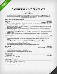 Cashier Job Duties For Resume The Best Cashier Resume Sample 2016 Recentresumes Com
