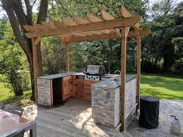 my outdoor kitchen is finally complete album on imgur