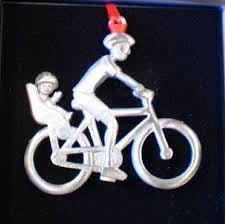 back seat baby bicycle ornament ornaments