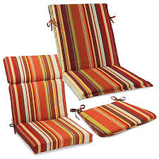 Orange Patio Cushions by Outdoor Cushions And Pillows In Spice Stripe Bed Bath U0026 Beyond