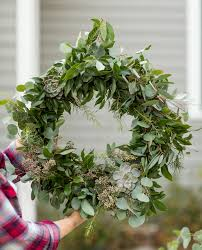 diy eucalyptus pine christmas wreath homemade christmas