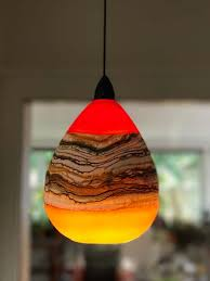 Blown Glass Light Pendants Hand Blown Glass Strata Lighting Pendant Lighting Ideas