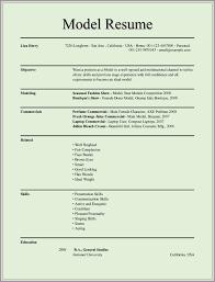 Acting Resume Sample Beginner Modeling Resume Resume Cv Cover Letter