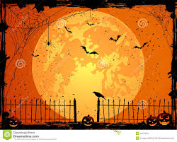 halloween background with moon stock image image 33274041