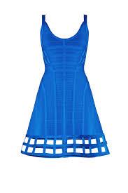 blue vivien cage dress by hervé léger for 210 rent the runway