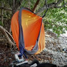 Large Hammock Tent Large Orange And Black Parachute Hammock Heavenly Hammocks