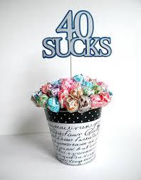 lollipop bouquet 40th birthday lollipop bouquet or cake topper 40 blue