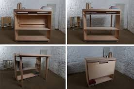 Work Table Desk Drop Leaf Desk Small Side Table Converts Into Work Surface Urbanist