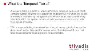 sql 2016 temporal table trivadis techevent 2017 sql server 2016 temporal tables by willfried