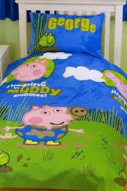 Peppa Pig Duvet Cover 100 Cotton Peppa Pig George Puddles Bedding Harry Corry Limited