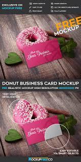donut business card u2013 free psd mockup free psd templates
