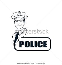 emergency rescue services policeman police officer stock vector