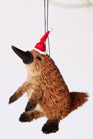 platypus christmas tree ornament bristlebrush designs