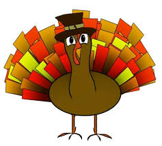happy thanksgiving clip colorful turkey with