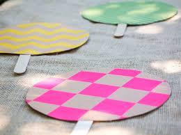 diy fans easy to make diy paper fans for summertime kidsomania