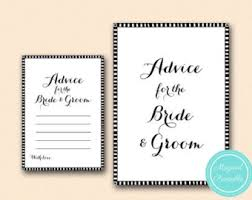Words Of Wisdom For Bride And Groom Cards Bridal Advice Cards Etsy