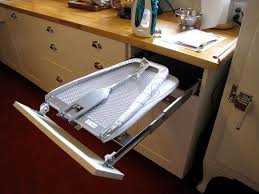 Ironing Board Cabinet Ikea Built In Ironing Board Drawer Using Foldable Ironing Board And