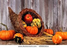 harvest cornucopia harvest cornucopia pumpkins apples gourds on stock photo 489083614