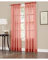 Orange Panel Curtains Amazing Deal On No 918 Erica Crushed Texture Sheer Voile Curtain
