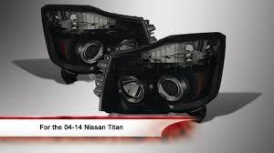 nissan titan fog lights 04 14 nissan titan led halo projector headlights youtube