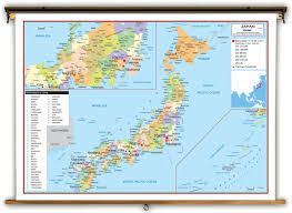 Sea Of Japan Map Japan Political Educational Wall Map From Academia Maps