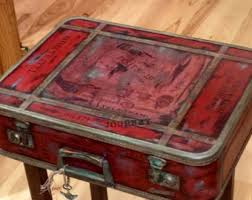 suitcase nightstand etsy