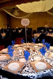 royal blue and black wedding theme ideas wedding party decoration