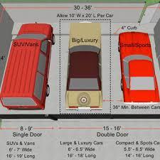 standard size garage standard 2 car garage size undhimmi