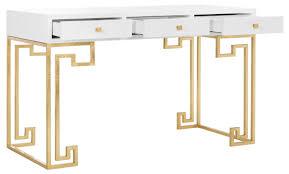 White Lacquer Desk by Sfv3528a Safavieh