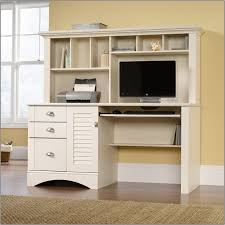 sauder harbor view computer desk and hutch sauder harbor view computer desk and hutch in intended for white